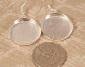 22mm Circle Hoop Earrings with Bezel