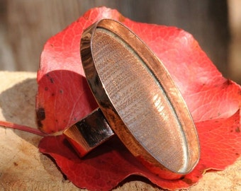 Large Oval Copper Ring