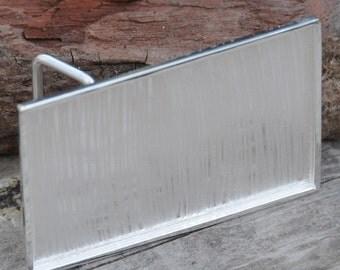 Belt Buckle Blank Base Kicked up a Notch in Sterling Silver Plate