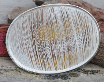 Oval Belt Buckle Blank in Sterling Silver Plate