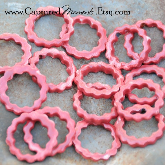 5  Tuscan Red components or links 27mm