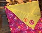 American Girl Doll Sleeping Bag--Pink Peace