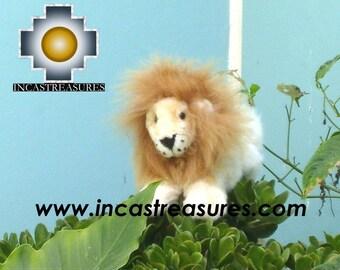 ALPACA STUFFED ANIMALS, Beige King Lion- George- FREE SHIPPING