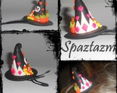 Halloween 1 of a kind mini princess boutique witch hat hair clip