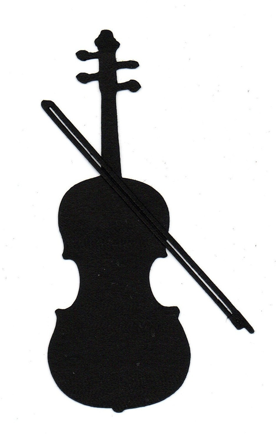 Violin or Cello Silhouette die cut for by simplymadescrapbooks