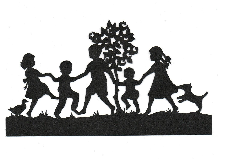children playing silhouette - photo #17