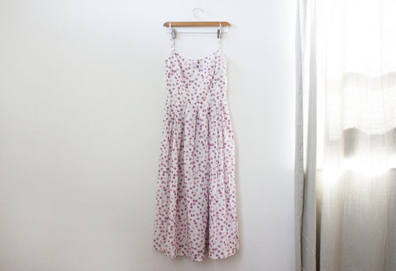 SALE vintage soft cotton ditsy floral print over the knee sundress
