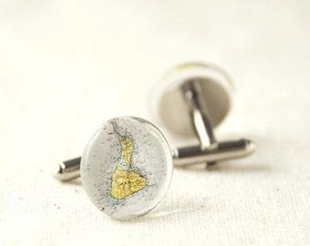 Block Island cufflinks