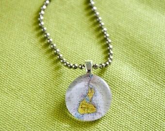 Block Island RI small round pendant