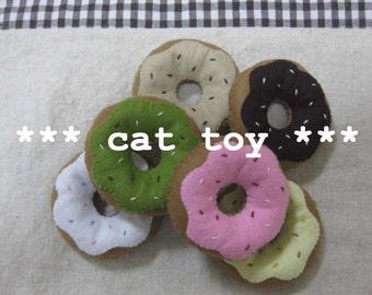 3 felt catnip donut your choice (cat toy)