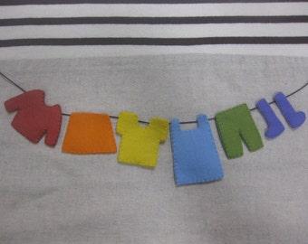 Felt colorful clothes