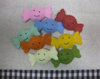 Felt smile fruit candies