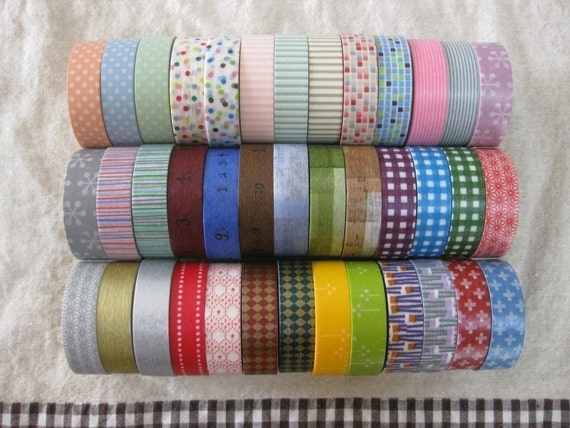 10 masking tapes your choice
