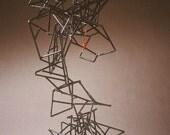 RESERVED Modern Steel Kinetic Fugurative Floor Sculpture