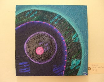 Abstract Painting Blue Circles