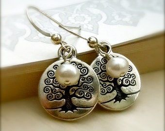Tree of Life Earrings, Yoga Jewelry, Peaceful Earrings, Namaste, Yoga