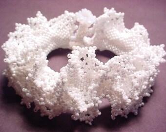 Lacy Ruffle Seed Bead Bracelet PDF Pattern