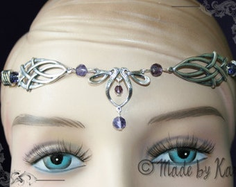 Maedieval Faery Tiara Necklace Circlet Celtic Choose Your Color