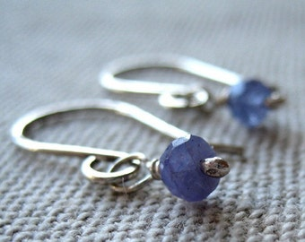 Little Tanzanite Earrings - Tanzanite with Sterling Silver and Handmade Earwires
