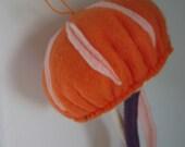SALE - Orange Felt Hanging Jelly Fish