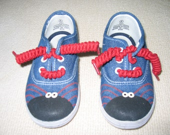 Hand painted spider shoes