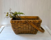 Vintage Basket with Handle