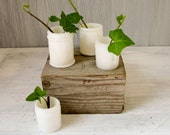 Vintage Milkglass Cosmetic Jars - Set of 4