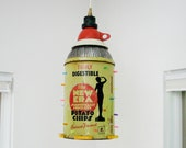 Hanging Pendant Light - Vintage Potato Chip Can - Repurposed