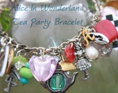 Sale- Alice In Wonderland Charm Bracelet Free Shipping USA