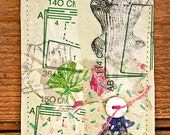 original art aceo,Mixed Media Collage4