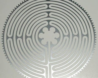Chartres Cathedral labyrinth silver vinyl decal