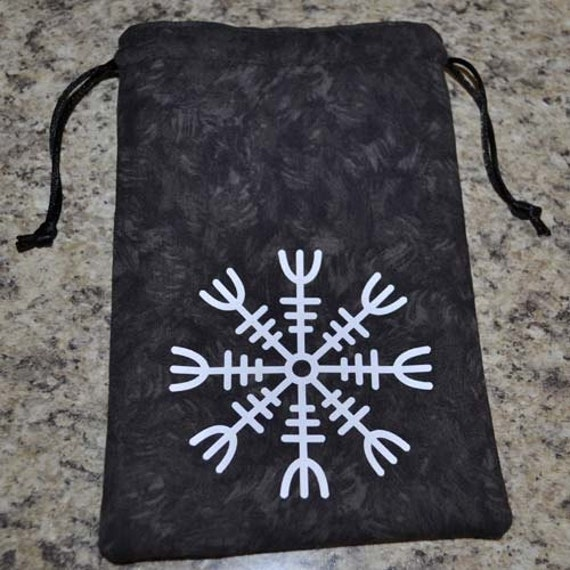Viking helm of awe talisman rune bag