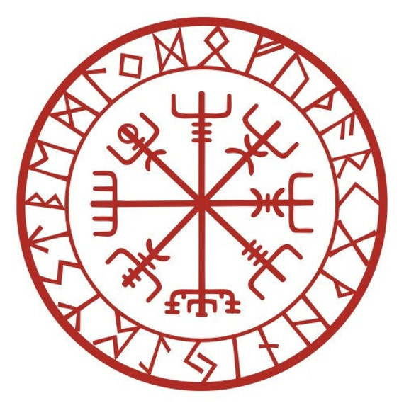 Vegvisir Meaning: Viking Protection Runes Vegvisir Compass Talisman By
