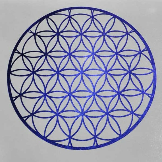 Flower of life sacred geometry shade shifter vinyl decal