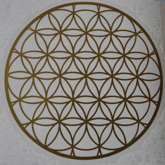 Flower of life sacred geometry gold vinyl decal