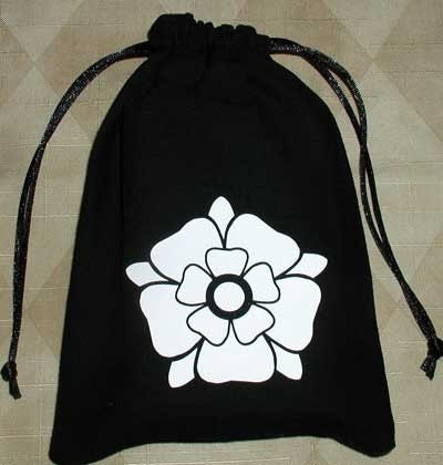 House Of York Tudor White Rose Heraldic Bag Sale