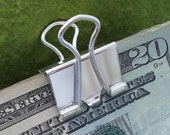 1 inch, (low profile) Sterling Silver binder clip