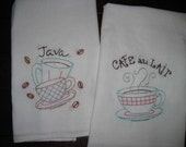 Time for Coffee tea towels