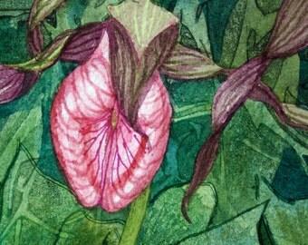 Flora IV an original watercolor painting