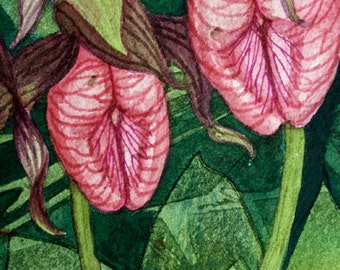 Flora V an original watercolor painting