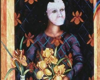 Wallflower Muse Iris an original watercolor painting