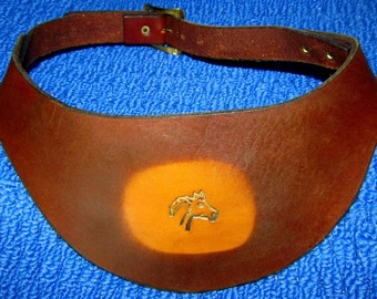 Leather Visor Hand Tooled and Crafted
