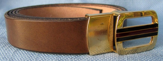 "1"" Wide Leather Belt Hand Cut and Dyed Custom Fit Free Key Fob"