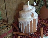Big Cinnamon Bun Pillar Candle