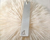 The Long Bar Initial in Sterling Silver