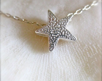 "Silver Star Necklace - ""Stardust In Your Eyes"""