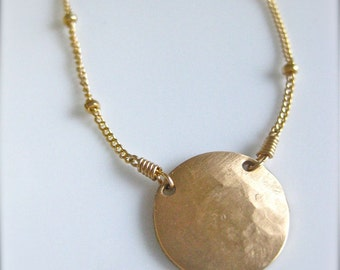 """Gold Medallion Necklace - """"Powerful Beyond Measure"""""""