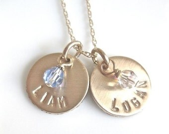 Little Birthstones in GOLD - with two discs