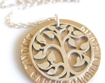 "Personalized Family Jewelry - ""My Tree of Wonder"" Necklace"