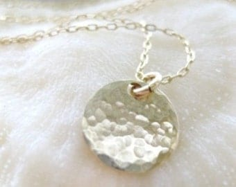 """Gold Disc Necklace -""""Your Irreplaceable Spark"""""""